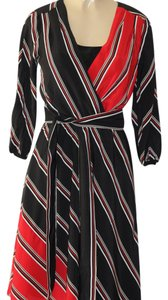 White House | Black Market short dress black, red, white stripes. on Tradesy