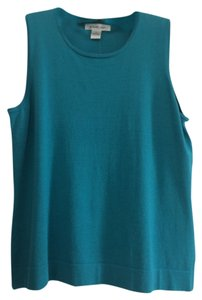 August Silk Top Turquoise