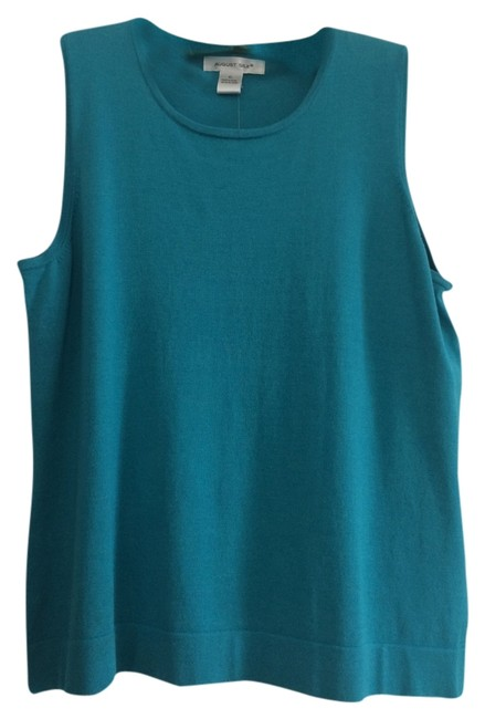Preload https://item4.tradesy.com/images/august-silk-tank-top-turquoise-4045633-0-0.jpg?width=400&height=650