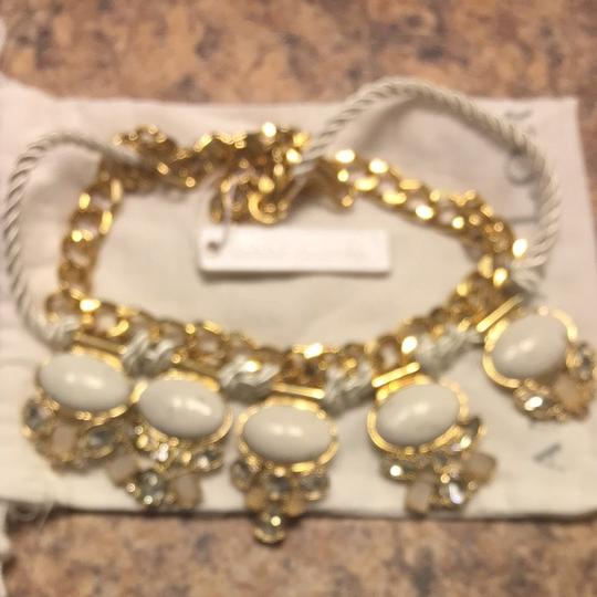 Ann Taylor Gold And White And Rhinestone