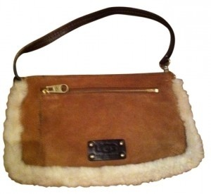 UGG Australia Furry Pockets With Strap light brown Clutch