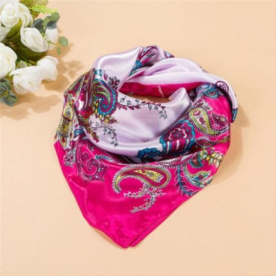 Other BOGO Pink Floral satin look scarf free shipping