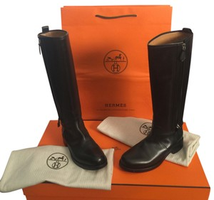 Hermès Leather Hermes black Boots
