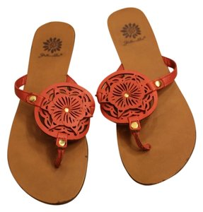 Yellow Box Coral Sandals