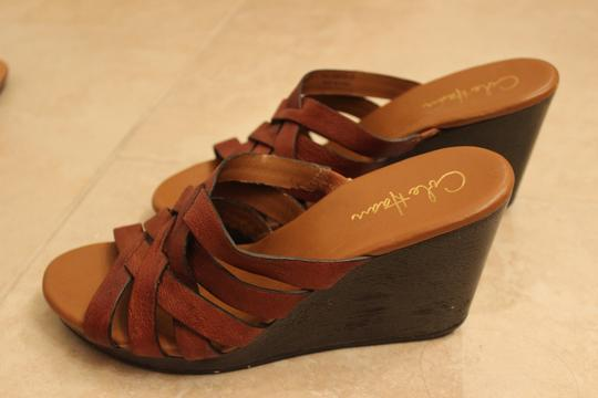 Cole Haan Leather Brown Wedges