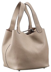 Hermès Neutral Mm Soft Luxury Tote in Taupe