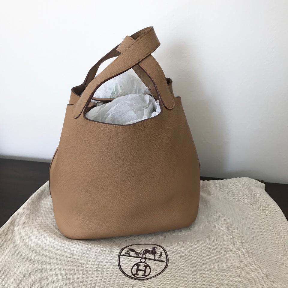 Tote Leather Pm Picotin Clemence Taupe Hermès CXwvpq4