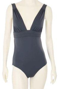 Diane von Furstenberg DVF Grey One Piece Bathing Suit Swimwear
