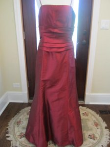 Wtoo Cranberry Burgundy Trumpet Bridesmaid Dress Dress