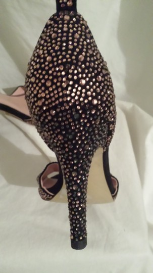 Obsessions Couture Open Toe Ankle Strap black /rose gold Pumps