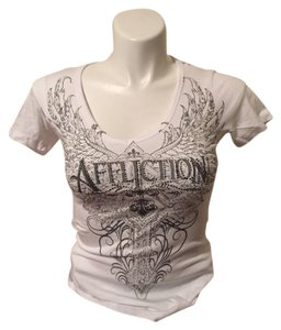 Affliction T Shirt White