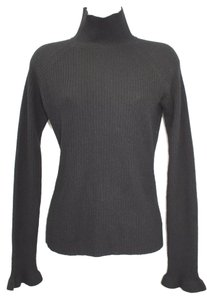Worthington Turtleneck Black Cashmere Sweater Cardigan