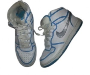 Nike White and Blue Athletic