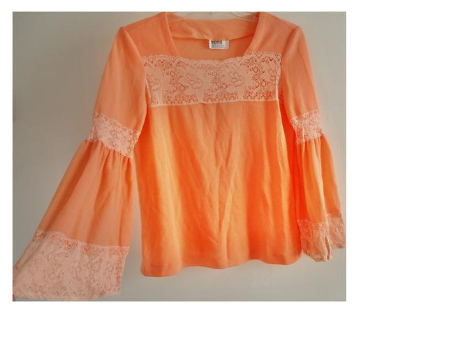 Maggie Ward Lace Top apricot