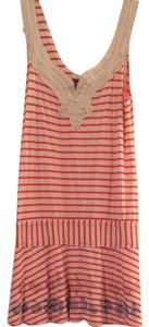 Free People short dress Red & Cream on Tradesy