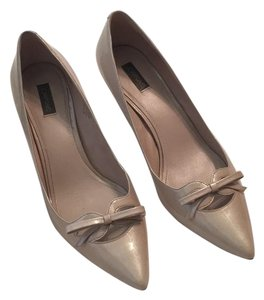 Joan & David Gray Patent Pumps
