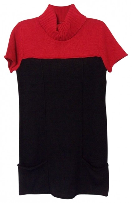Preload https://img-static.tradesy.com/item/404847/elementz-redblack-colorblock-sweater-turtleneck-short-casual-dress-size-4-s-0-0-650-650.jpg