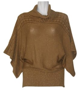 Vintage Batwing Wide Sleeve Turtle Neck Disco Sweater