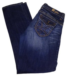 KUT from the Kloth Straight Leg Jeans-Dark Rinse