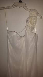 Galina Ivory Chiffon Wg9888 Destination Wedding Dress Size 2 (XS)