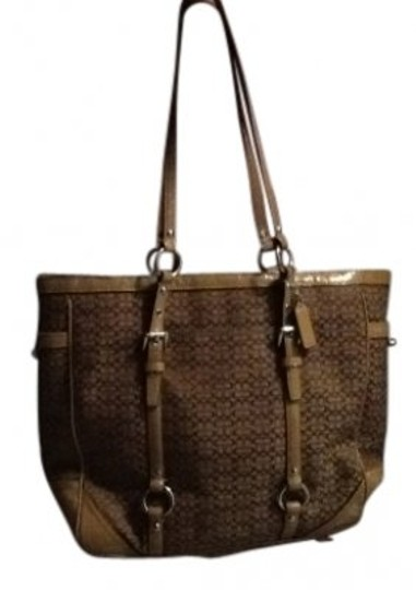 Preload https://item5.tradesy.com/images/coach-signature-brown-and-tan-cotton-tote-40489-0-0.jpg?width=440&height=440