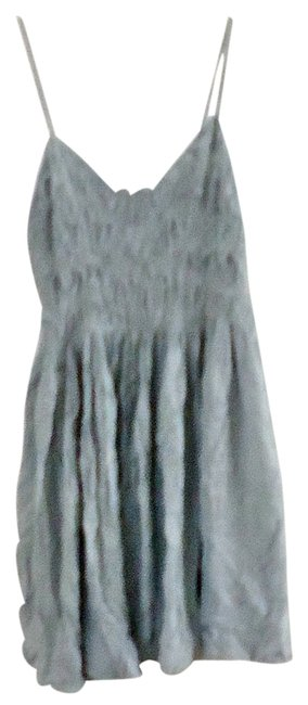 Jack short dress dove-grey Embroidered Embellished Rayon on Tradesy