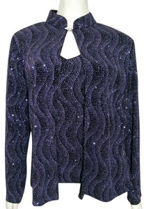 Onyx Nite Cardigan Tank Shirt Party Top purple