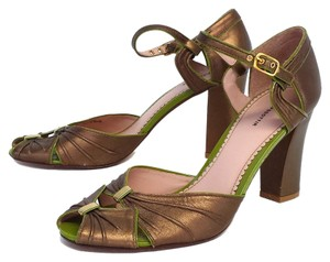 Leifsdottir Leather Peep Toe Heel Sandals