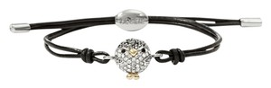 Fossil New! Fossil Brand Penguin Glitz Crystals Leather Pulley Bracelet JA6218