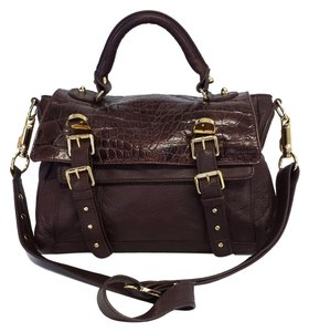 CC SKYE Pebbled Leather Satchel