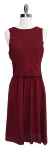 Ulla Johnson short dress Sumac Red Bell Flower Sleeveless Silk on Tradesy