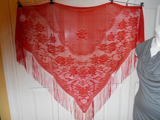 Other Vintage fringed shawl