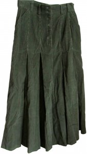 Together Fine-wale Maxi Skirt Dark green corduroy
