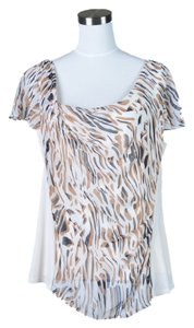 Doncaster Top Cream with Tan and Black Print