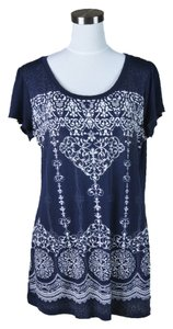 Bleulab T Shirt Navy and Cream