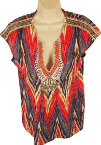 Nanette Lepore NANETTE LEPORE Swim Tunic Cover-up M NWT Muti Embroidered Silk Blend