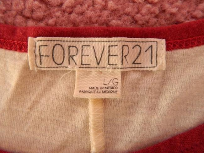 Forever 21 Top White, Red