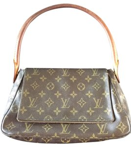 Louis Vuitton Vintage Leather Monogram Shoulder Bag