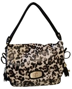a72a8315c4 Christian Audigier Leopard Leather Shoulder Bag - Tradesy