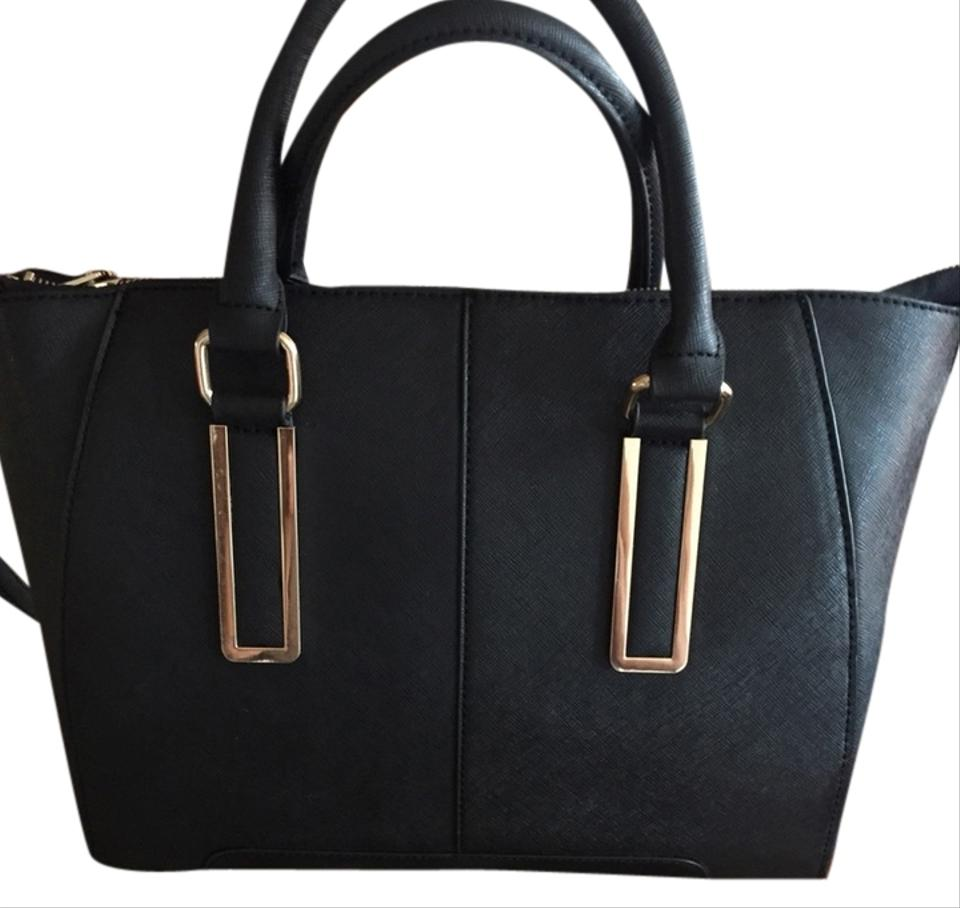 bfe9bcdc010 ALDO Marilyn Black With Gold Accents Satchel on Sale