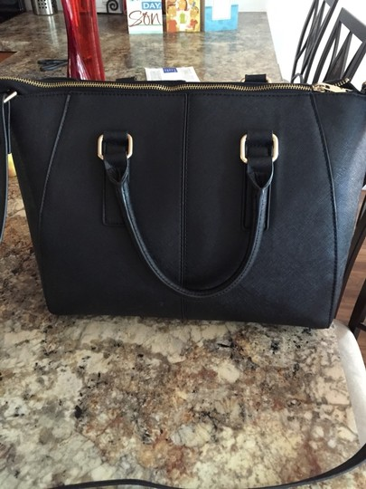 ALDO Satchel in Black With Gold Accents