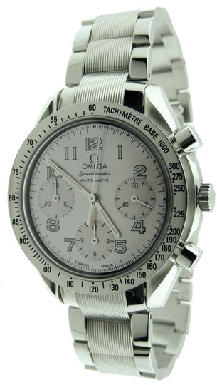 Omega Omega Speedmaster Automatic Chronograph MOP Pink Dial 39mm SS Watch Card