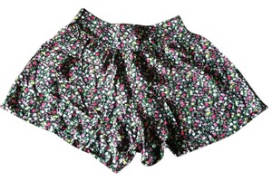 Sans Souci Skirt Flowy Summer Shorts Floral Pattern / Black