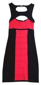 bebe Color Block Colorblock Color Block Red And Black Black And Red Red And Black Black And Red Red Body Con Bodycon Dress