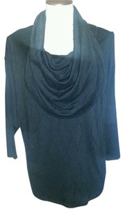 Etoile Batwing Dolman Career M Solid Batwing Dolman Cowel Neck Textured 3/4 Sleeve Sweater