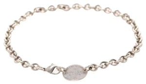 Tiffany & Co. Tiffany & Co. Return to Tiffany Oval Tag Choker Sterling Silver 925 Necklace