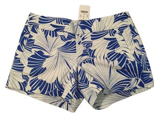 J.Crew Mini/Short Shorts Blue & White Print