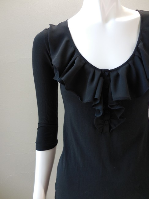 Gap Chiffon Rayon Stretchy Casual Dressy Top Black