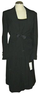 Calvin Klein Calvin Klein Black 3 Pieces Suit New with Tags 12P Evening Bow Tie Skirt
