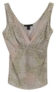 Kenneth Cole Top Cream Green Multi